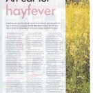 'An Ear for Hayfever', Women's Health and Fitness, 2008